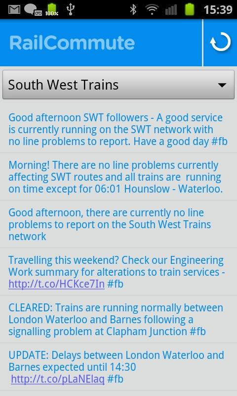 Rail Commute - Live UK Trains - screenshot