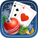 Solitaire Game. Christmas icon
