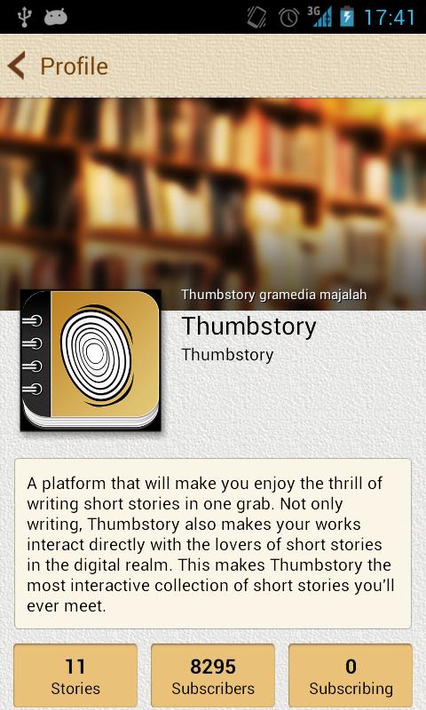 Thumbstory- screenshot