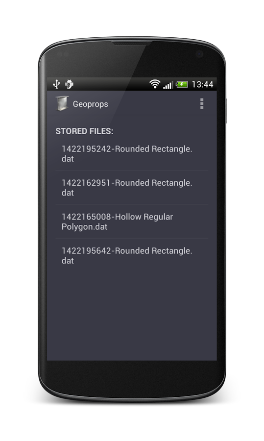 Geoprops - screenshot