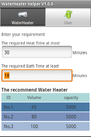 water heater Helper - screenshot