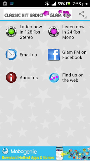 Glam FM Internet Radio Player