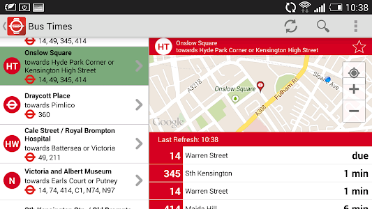 London Live Bus Countdown screenshot 6