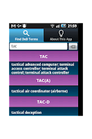 Screenshot of DoD Terms and Acronyms