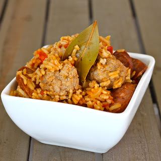 Pork and Sausage Jambalaya.
