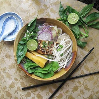 Plant Based Pho, A Vegan Alternative To The Beefy Original.