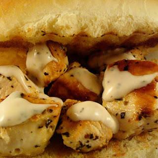 Chicken Spiedie Sandwiches.