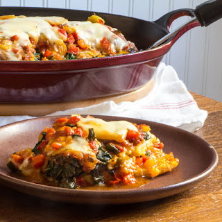 Cheesy Polenta 'Lasagna' with Swiss Chard