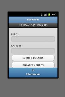 Conversor Euro Dolar - screenshot thumbnail