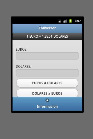 Conversor Euro Dolar - screenshot