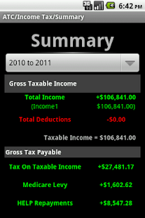 Aussie Tax Calculator Lite - screenshot thumbnail