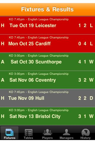 Leeds Soccer Diary- screenshot