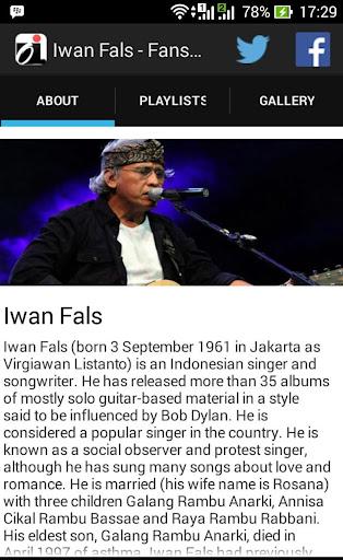 Iwan Fals - Fans App