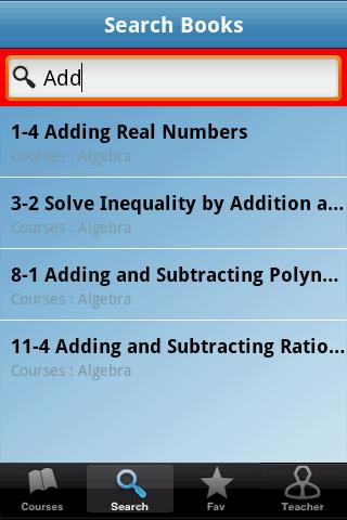 Algebra- screenshot