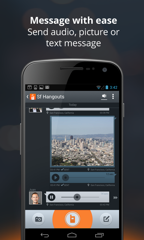 Voxer Walkie Talkie Messenger - screenshot