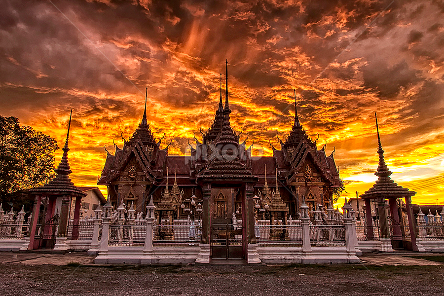 Burning Sky by Mark Anthony Bansag - Buildings & Architecture Places of Worship ( moods, lighting, mood lighting )
