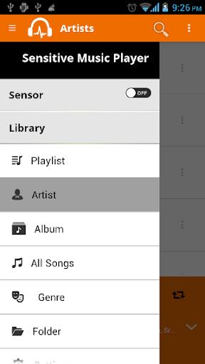 Sensitive Music Player Free