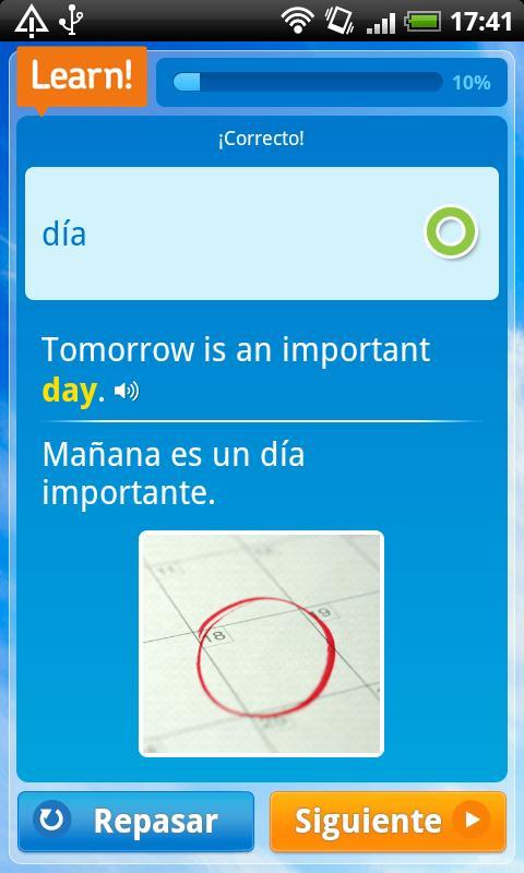 Cerego English - español - screenshot