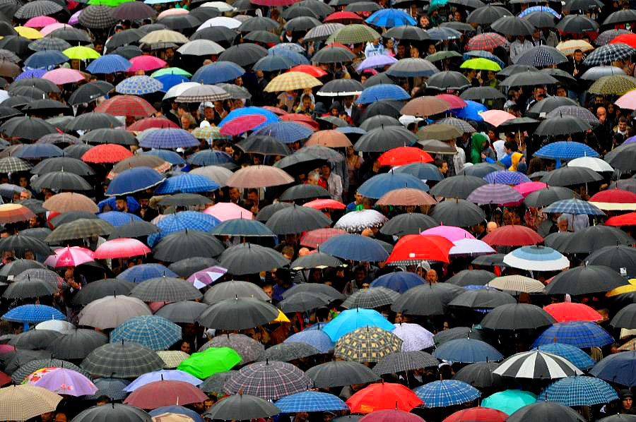 Today it was raining and tomorrow will be, says radio... by Boricic Goran - City,  Street & Park  Street Scenes ( k )