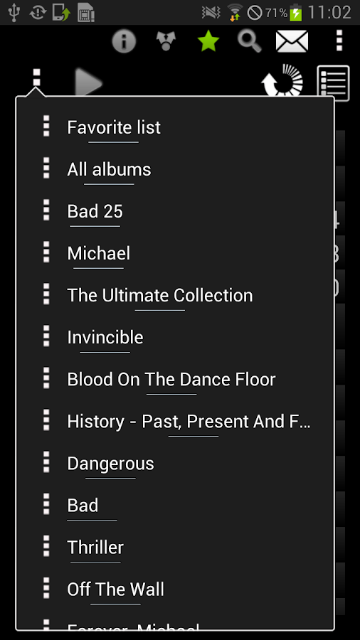 All albums of Michael Jackson - screenshot