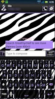 Screenshot of Cute PurpleZebra Keyboard Skin