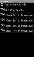 Screenshot of LA Metro Alerts Pro