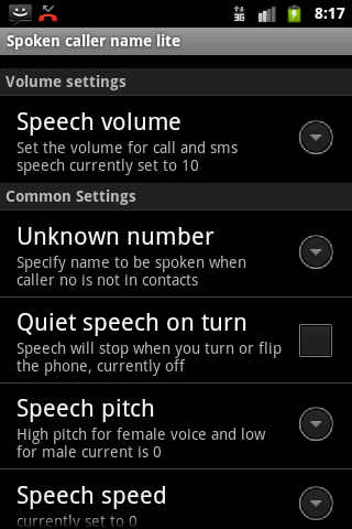 Talking Caller ID Free - screenshot