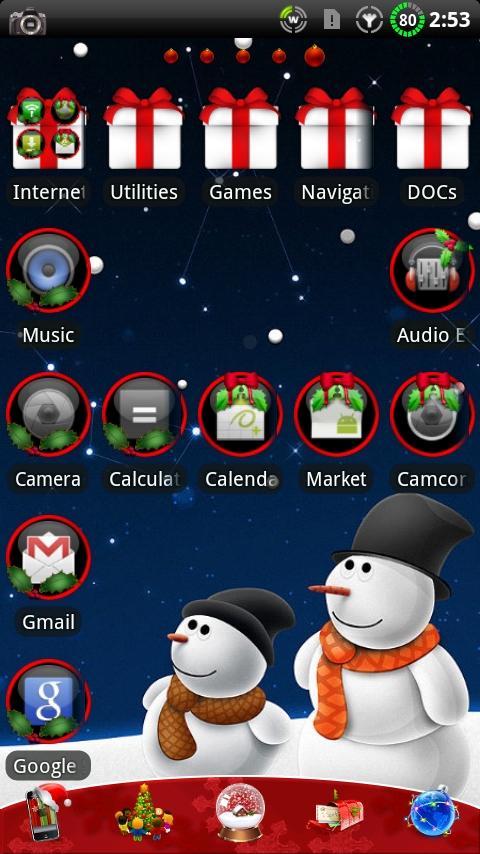 CHRISTMAS GO Launcher EX Theme- screenshot