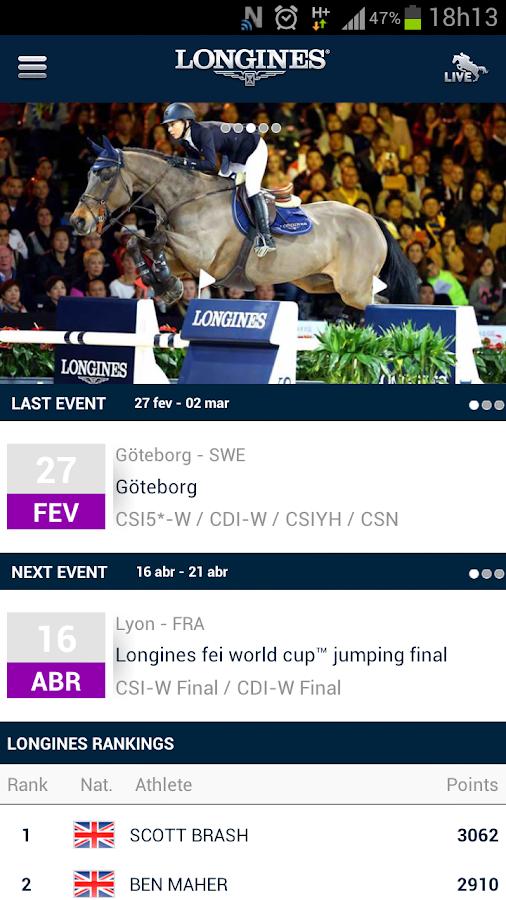 Live Timing Jumping - screenshot