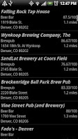 Screenshot of Beer Map