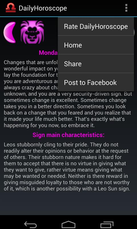 Daily Horoscope - screenshot