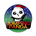 Jumping Panda Xmas logo