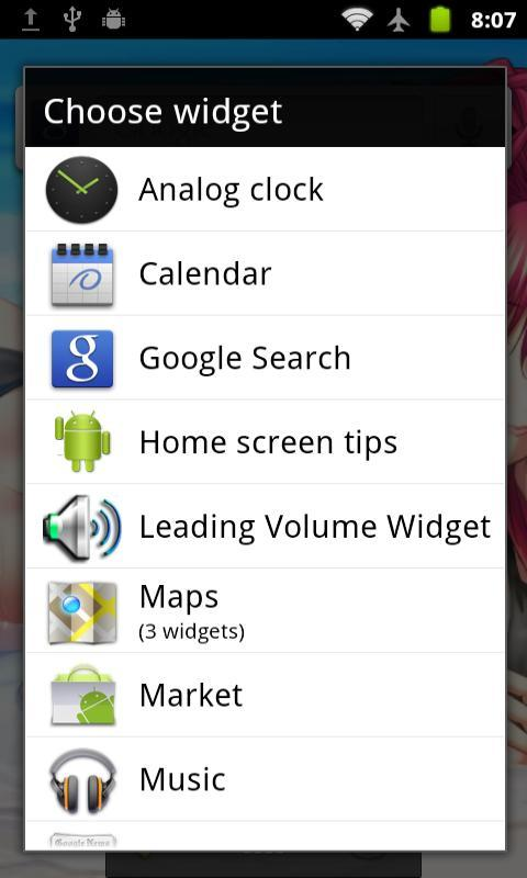 Leading Volume Widget - screenshot
