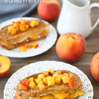 Peaches and Cream Stuffed French Toast.