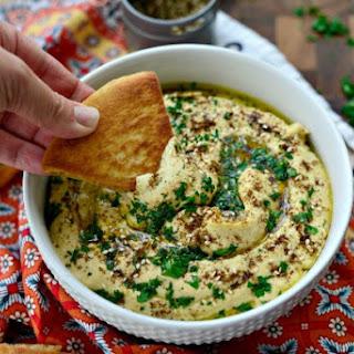 Za'atar + Roasted Garlic Hummus.