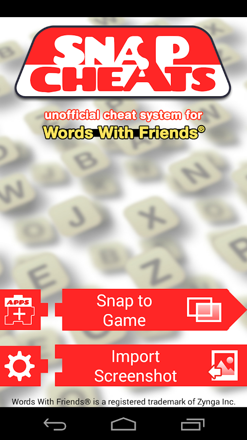 snap cheat words with friends android apps on google play. Black Bedroom Furniture Sets. Home Design Ideas