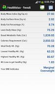 Screenshot of HealthMax - Health Calculator