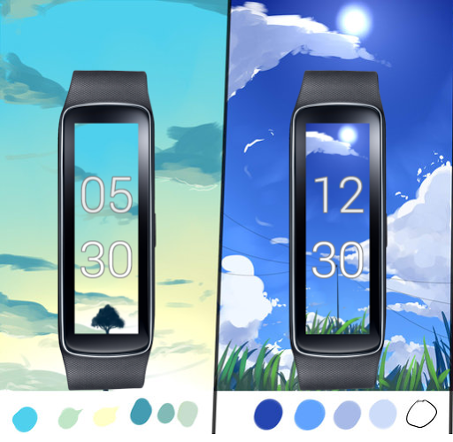 Gear Fit Dynamic Clock