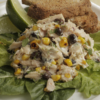 Mario Batali's Tuna Salad with Charred Corn and Black Beans.