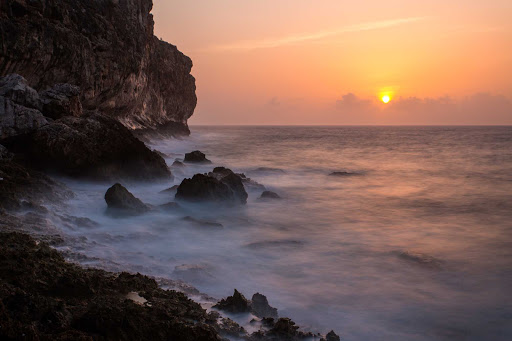 Cayman-Islands-Cayman-Brac-sunrise - A misty sunrise on Cayman Brac near Little Cayman Island.