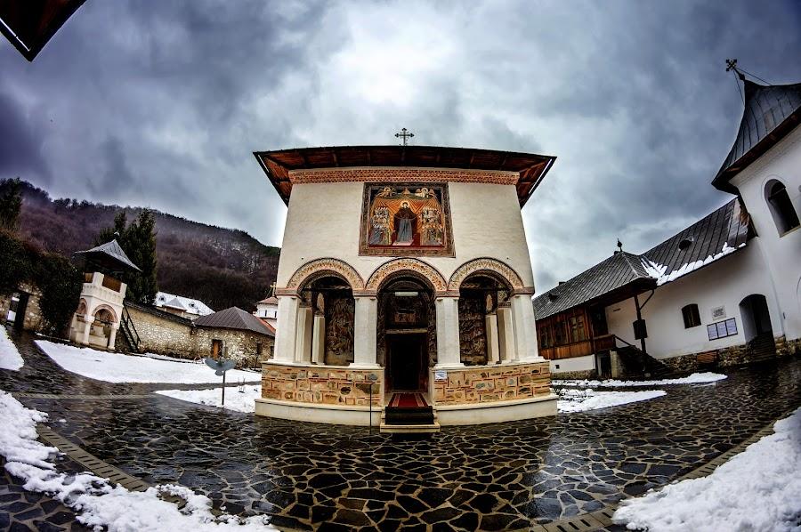 The Polovragi monastery by Bogdan Caprariu - Buildings & Architecture Public & Historical ( stormy, monuments, building, monastery, historical )