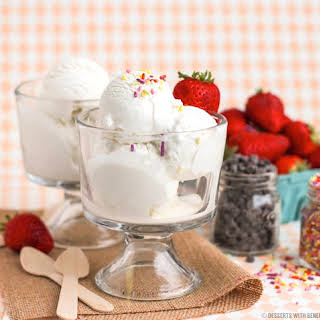 Healthy Vanilla Bean Greek Frozen Yogurt.