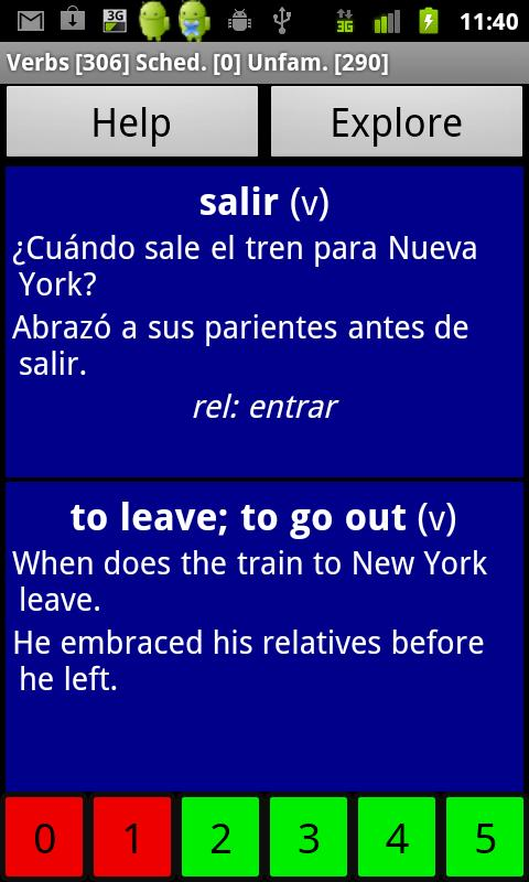 Spanish Basic Vocabulary- screenshot