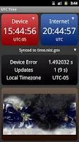 Screenshot of UTC Time