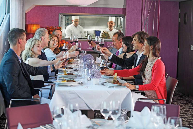 Enjoy a fine dining experience with friends or with family at Table La Rive on Scenic Cruises.