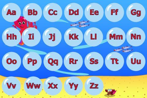 Juf Jannie-Letters leren lezen: screenshot
