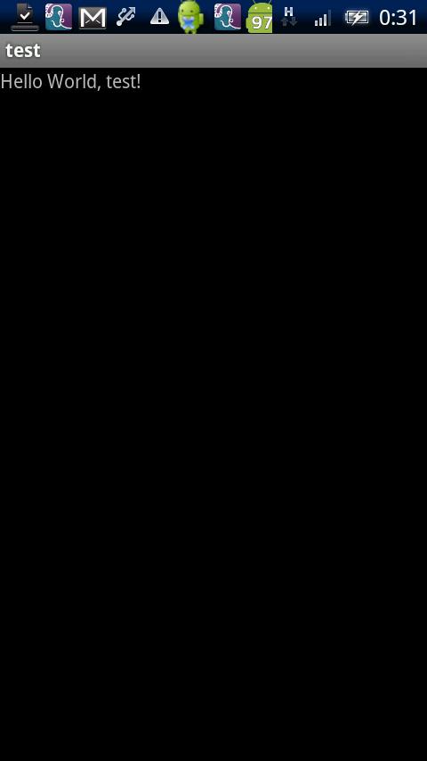 テストアプリ - screenshot