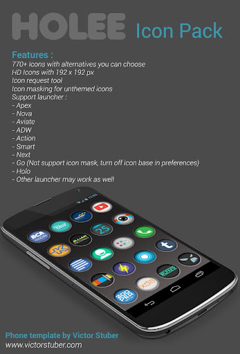 Holee – Icon Pack v1.0.1