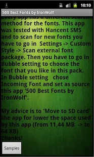 500 Best Fonts by IronWolf - screenshot thumbnail