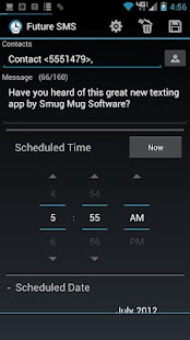 Future SMS Text Scheduler - screenshot thumbnail